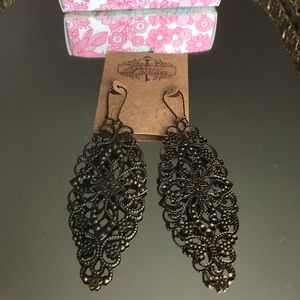 Vintage antique gold earrings by Plunder